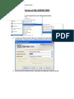 Acceso Al SQL Server 2005