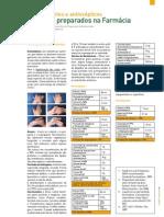 Desinfectantes e Antissépticos - Produtos Preparados na Farmácia