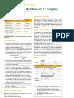 Medicamentos Manipulados - Solução Oral de Oseltamivir a 15mg/ml