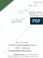 Peter Davey NZ Patent 92428
