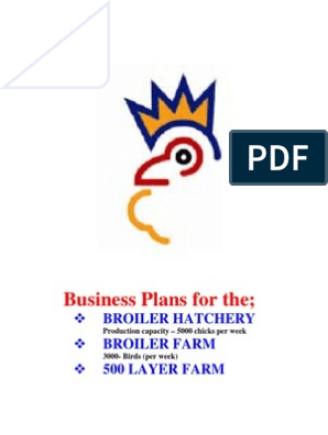 Business Plan Hachery | Poultry Farming | Poultry