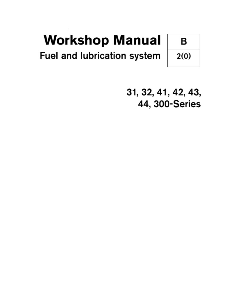 41 Fuel And Lubrication Systems