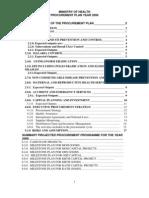 Procurement Plan2006 Ghana