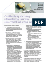 Police Injury Pensions - GMC Guide to Doctors re Releasing Confidential Information