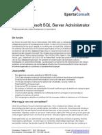 Eporta Consult Vacature Senior Microsoft SQL Server Administrator (SQL-DBA)