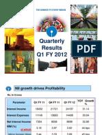 Sbi q1fy12 Analyst Ppt