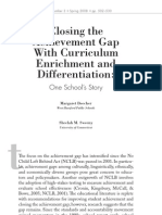 Closing the Achievement Gap With Curriculum Enrichment and Differentiation