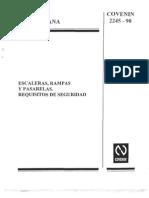 COVENIN  2245-90 (Escaleras Rampas y Pasarelas. Requisitos de seguridad)