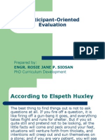 Participant-Oriented Evaluation Presentation (2)