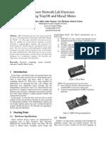 Sensor Network Lab Exercises