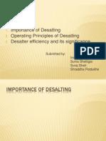 Group Seminar on Desalter