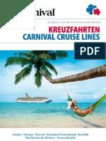 Carnival Cruise Lines Katalog 2012-2013 (Schweiz / DE)