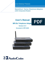 LTRT-50609 MP-20x Telephone Adapter User's Manual Ver 3.0.1