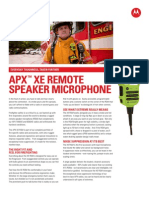 XE Remote Speaker Microphone Specs