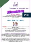 Newsletter 7th September 2011
