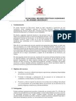 """Concurso Nacional """"Mejores Prácticas Ciudadanas de Jóvenes"""""""