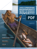 Does conserving biodiversity work to reduce poverty?