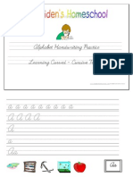 Learning Curved Cursive Tracing Alphabet Full by Donnette E Davis, St Aiden's Homeschool