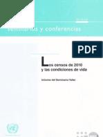 Los censos de 2010 y las condiciones de vida