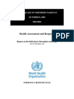 UN-WHO Assessment Rawalakot & Bagh