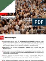 Buzz politique du Nouvel Observateur du 31 août au 6 septembre 2011