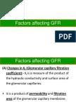 Factors Affecting GFR