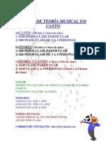 CLASES TEORÍA Y CANTO
