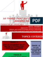 10 Things That 21st Centuary Managers Do