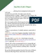 Benefits of Eating Okra