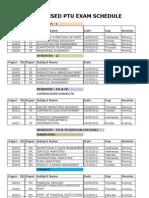 Ptu Exam Schedule