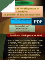 Emotional Intelligence of Leaders