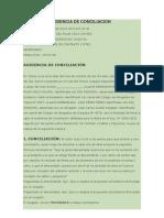 Modelo de Audiencia de Conciliacion