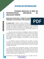 El PP Granada denuncia la falta de infraestructuras educativas en educación infantil