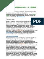 Superdesintoxicação - 1, 2, 3 Adeus Barriga - Karine César - Jason Vale - Prevenção