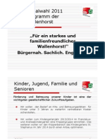 Wahlprogramm 2011 2.0
