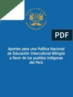 Informe Defensorial Nº 152 Aportes para una Política Nacional de EIB en el Perú