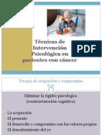 Técnicas de Intervención Psicológica en pacientes con cáncer
