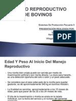 Manejo de Bovinos en Etapa Reproductiva