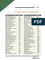 Russell 2000 Value Membership List