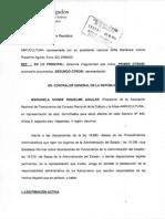 Presentacion Contraloría Caso  Galia Díaz por ANFUCULTURA