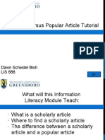 Information Literacy Scholarly Journal Pps