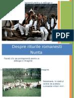 Despre riturile romanesti
