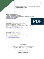 A Convergencia Contábil e a Adoção das Normas Internacionais no Brasil