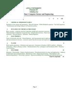 syllabus cse 1-4 [ regulation 2001 ]