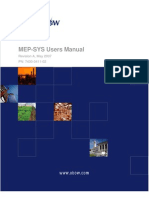 MEP SYS Users Manual 7430-0411-02 A