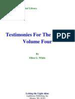 Ellen G. White - Testimonies for the Church Volume Four
