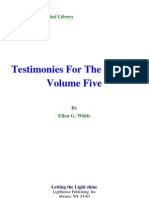 Ellen G. White - Testimonies for the Church Volume Five