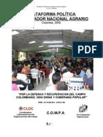 Plataforma Política Coordinador Nacional Agrario COLOMBIA
