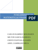 FUNDAMENTOS DE MATEMÁTICAS FINANCIERAS