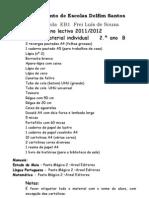 lista de material 2º ano B - 2011-12